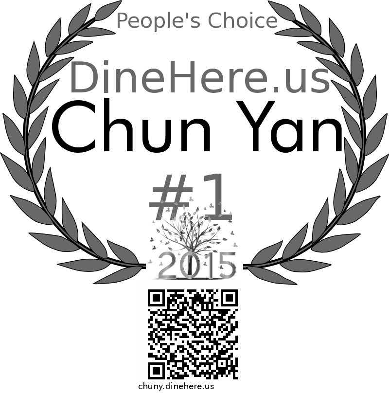 Chun Yan DineHere.us 2015 Award Winner